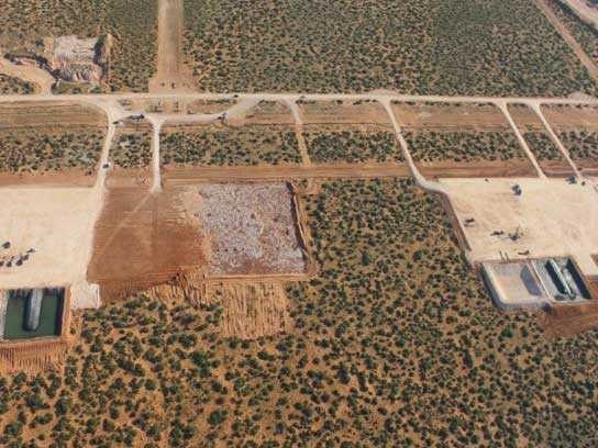 Aerial view of locations built by 3G construction.